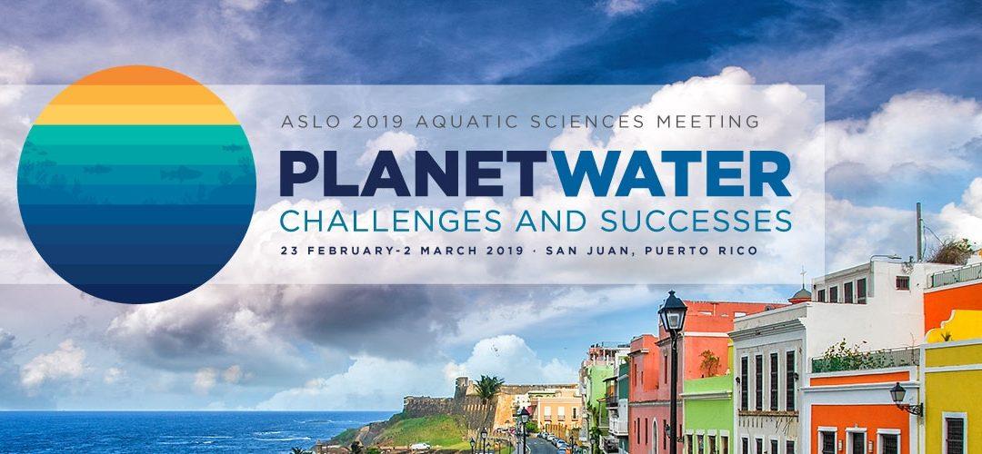 We were at the 2019 Aquatic Sciences Meeting!